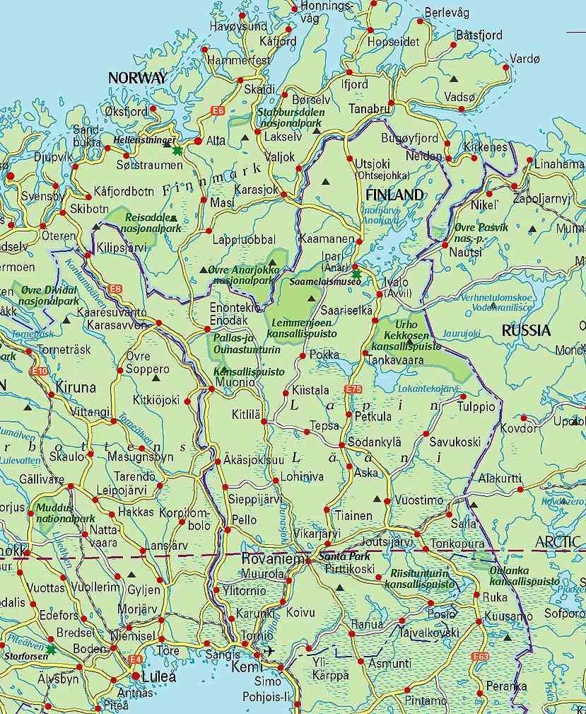 Lapin Suomi Map Kartta Suomi Ja Lappi Pohjois Eurooppa Eurooppa