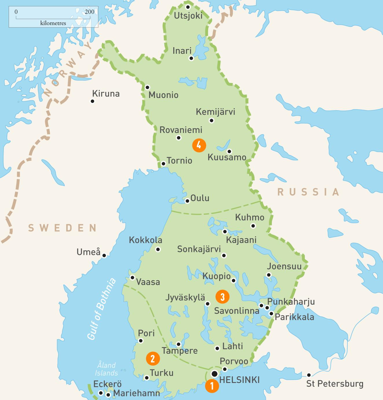 Suomen Jarvet Kartta Kartta Suomen Jarvet Pohjois Eurooppa