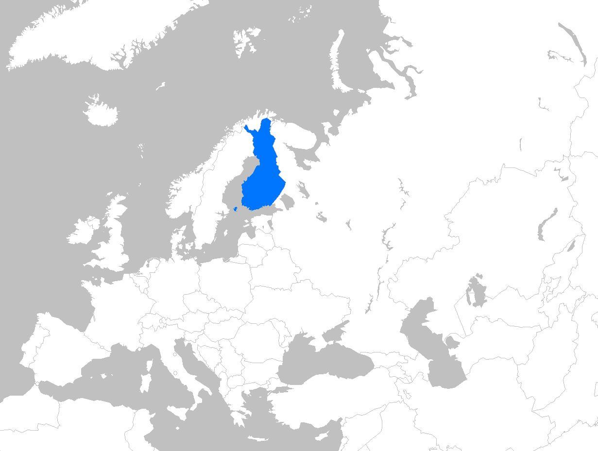 Suomen Kartta Eurooppa Suomi On Euroopan Kartta Pohjois