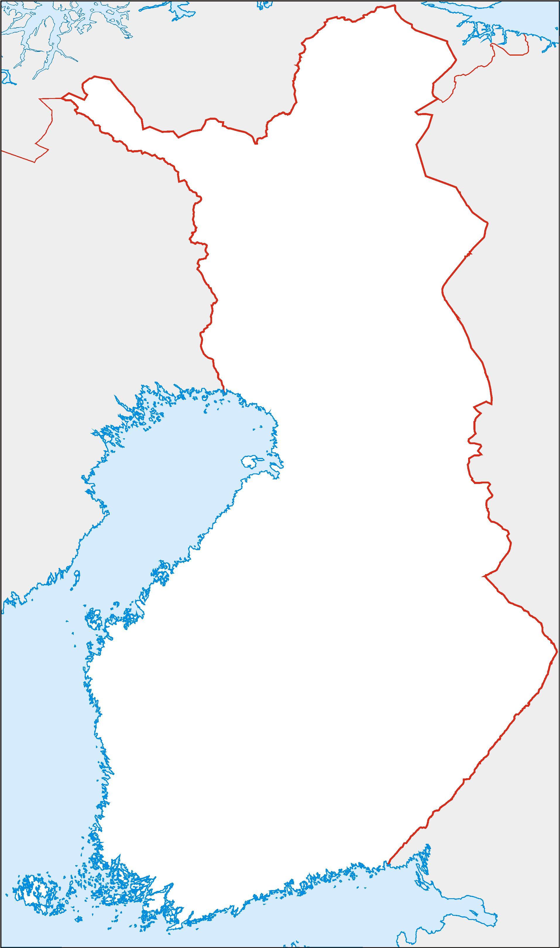 Suomi Tyhja Kartta Tyhja Kartta Suomessa Pohjois Eurooppa