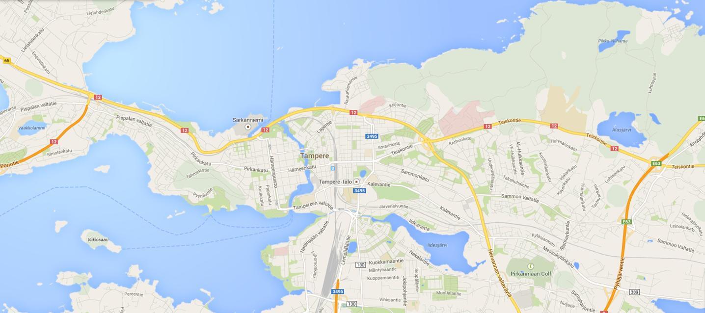 Tampere Kartta Kartta Tampere Suomi Pohjois Eurooppa Eurooppa