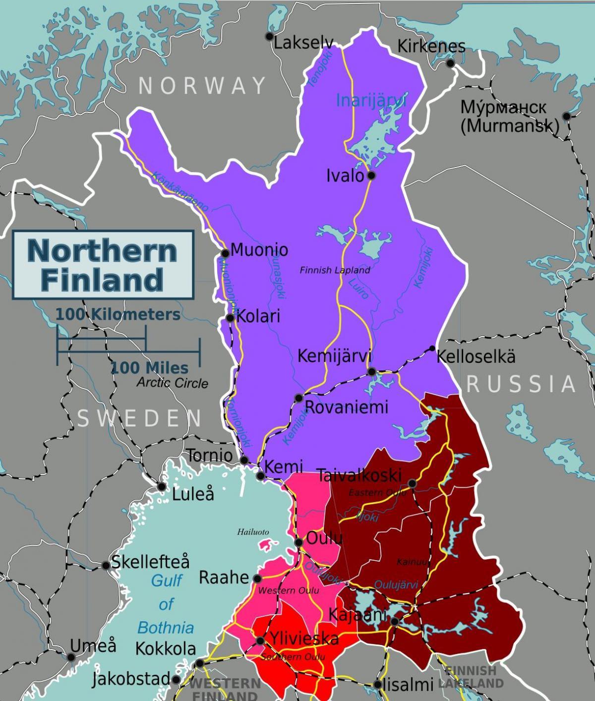 Suomi Vaellus Kartta Map Of Finland Vaellus Pohjois Eurooppa