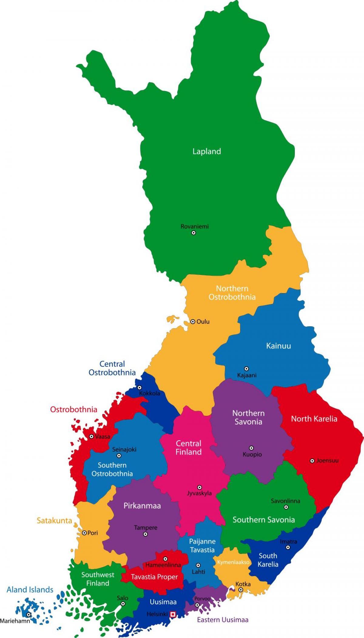 Suomen Alueiden Kartta Suomen Maakunnissa Kartta Pohjois