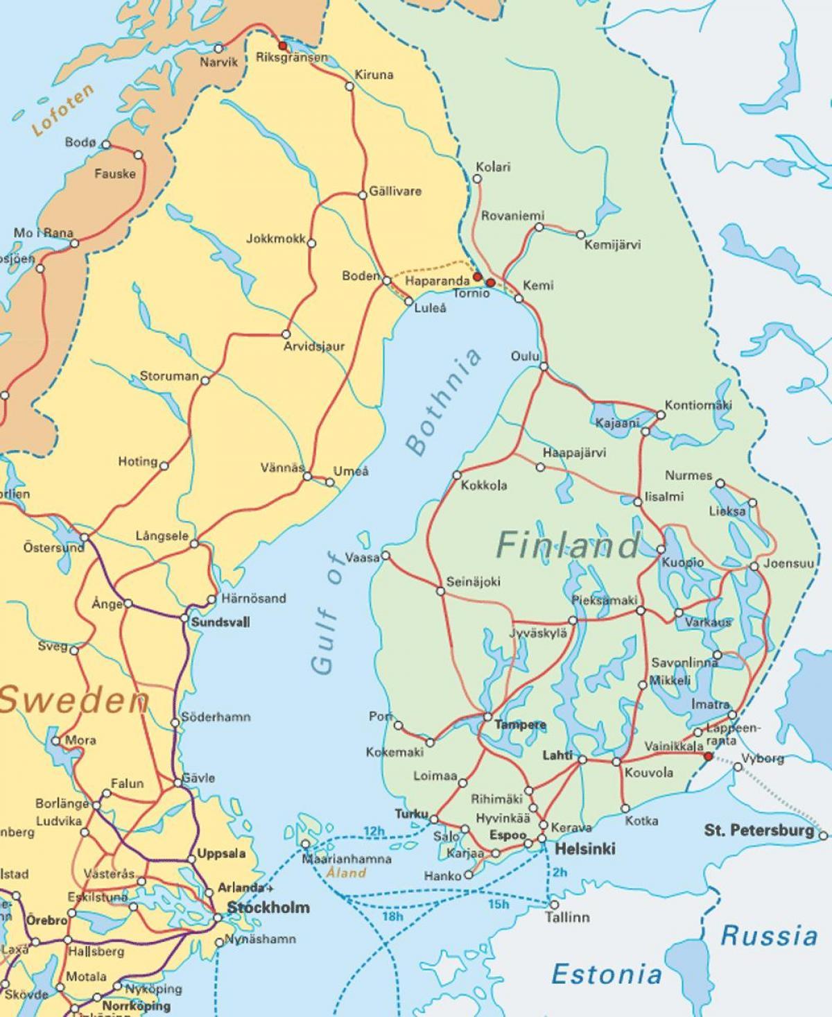 Suomen Rautateiden Kartta Suomessa Juna Kartta Pohjois Eurooppa