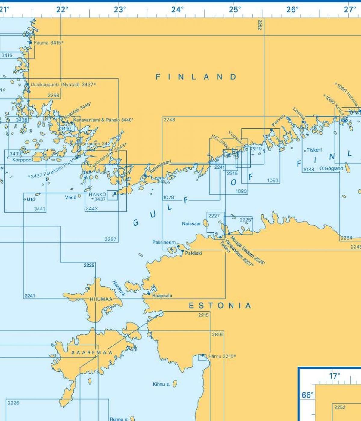 Suomenlahden Kartta Kartta Suomenlahti Pohjois Eurooppa Eurooppa