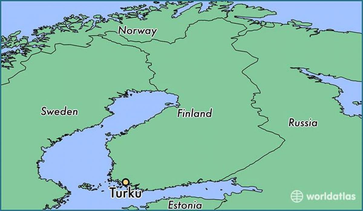 Turku Kartta Kartta Turku Suomessa Pohjois Eurooppa Eurooppa