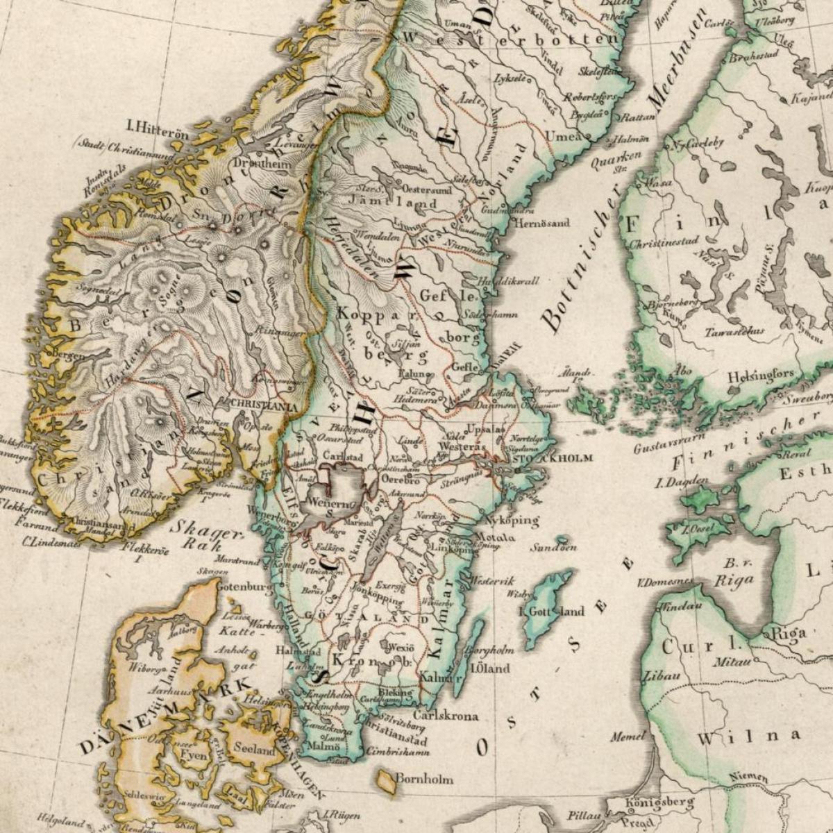 Vanhan Suomen Kartta Kartta Vanhan Suomen Pohjois Eurooppa