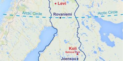 Suomen Kartta Kartat Suomi Pohjois Eurooppa Eurooppa