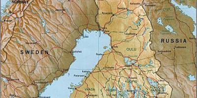 Suomen Topografinen Kartta Topografinen Kartta Jota Suomen